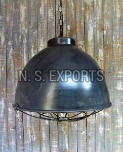 Conical Dome Pendant Lamp with Cage