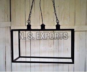 Cubical Black Matt Hanging Lamp