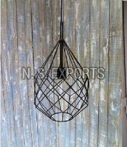 Diamond Wire Case Hanging Lamp