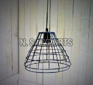 Distress Finish Conical Pendant Lamp