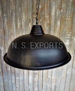 Black Matt Finish Dome Pendant Lamp