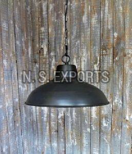Grey Finish Dome Pendant Lamp