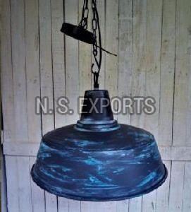Grey Turquoise Finish Hanging Pendant Lamp
