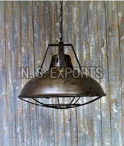 Industrial Dome Cage Hanging Lamp