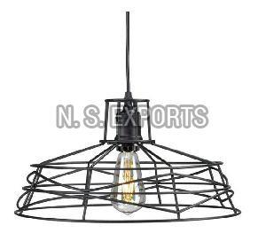Matt Black Wire Cage Hanging Pendant Lamp