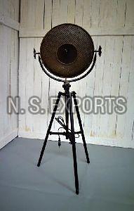Round Sheet Cage Floor Lamp