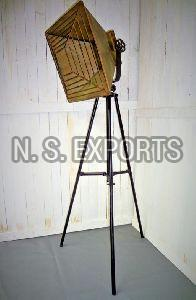 Square Shade with WIre Cage Floor Lamp