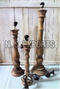 Weather Burn Finish Wooden Floor Lamp