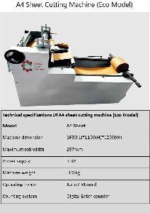 A4 Sheet cutting machine Economy model