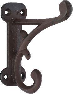 Antique  white cast iron coat hook