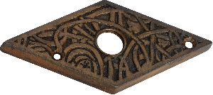 black cast iron bell push