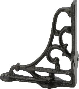 Black powder coated cast iron self bracket