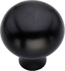 Black round wooden door knobs