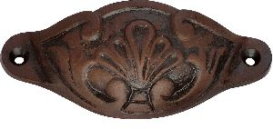 Brown cast iron drawer pulls