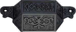 Decorative black cast iron drawer pulls