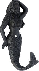 Fish shaped cast iron coat hook