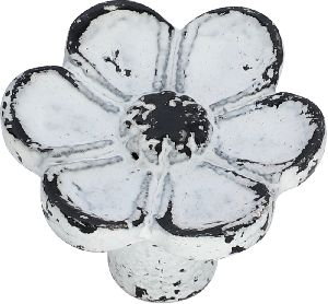 Flower shaped cast iron cabinet knobs