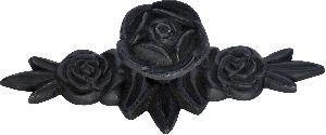 Matte black cast iron knobs set