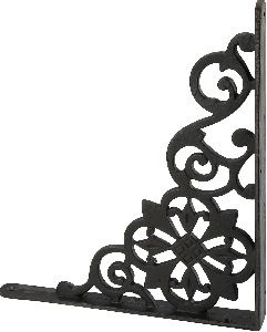 Matte black cast iron self bracket