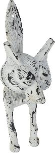 Shabby chic animals cast iron door knocker