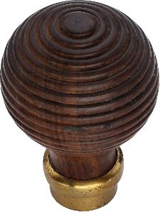 Wood door knobs