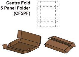 Center Fold Five Panel Folder Box