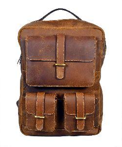 Leather Shoulder Backpack Bag
