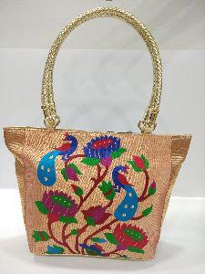 Semi Paithani Big Handbag