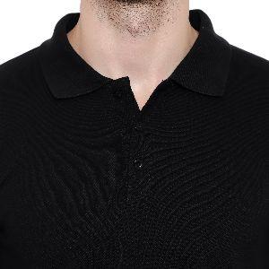 Mens Black Polo T-Shirt