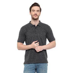 Mens Grey Polo T-Shirt