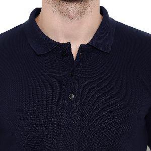 Mens Navy Blue Polo T-Shirt