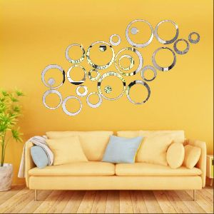 Ring & Dot Silver Wall Sticker