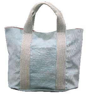 12 Oz Dyed Canvas Tote Bag With Inside Lining & Front Open Pocket