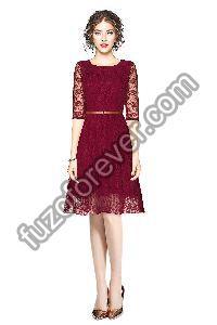 Rich Maroon Dresses