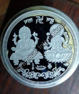 Pooja Silver Coin