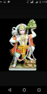 Marble Colored Hanuman Statue