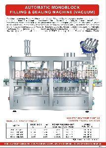 Vacuum Monoblock Sealing Machine