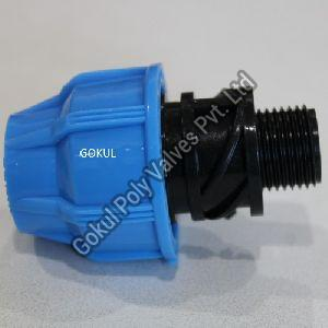 MDPE Compression Male Threaded Adaptor