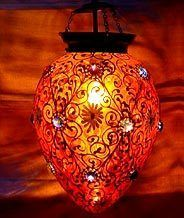 Golden Hanging Candle Lamp