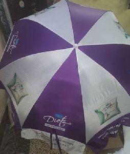 Purple and White Umbrella