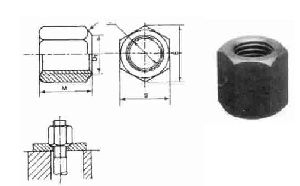 Clamping Extra Long Hex Nuts