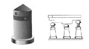 Screw Jack With Conical Head and Ring Lock Nut