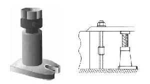 Stable Screw Jack With Single Side Flange And Ring Lock Nut