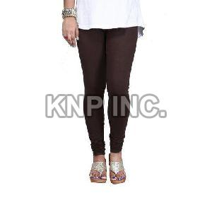 Coffee Cotton Lycra V-Cut Leggings