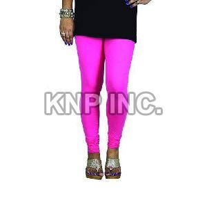 Hot Pink Cotton Lycra V-Cut Leggings