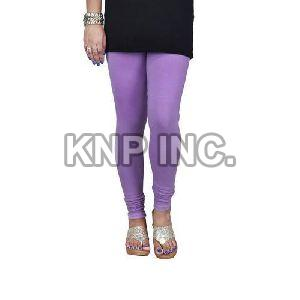 Light Lavender Cotton Lycra Churidar Leggings