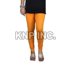 Mustard Cotton Lycra Churidar Leggings