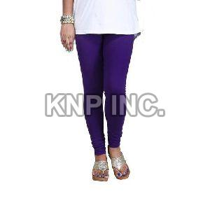 Purple Cotton Lycra Churidar Leggings