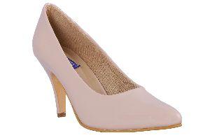 Cream Color Round Toe Heels
