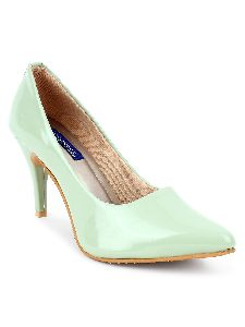 Green Round Toe Heels